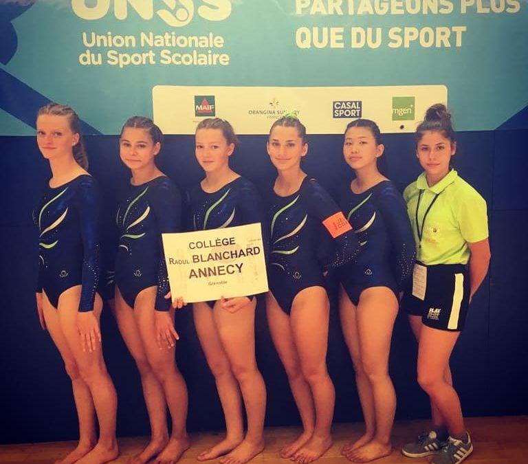 Gymnastique Artistique Féminine: Championnat de France Unss